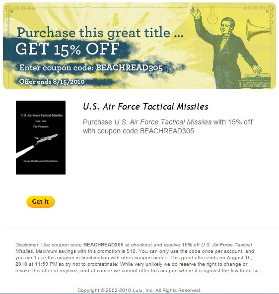 Discount – U.S. Air Force Tactical Missiles