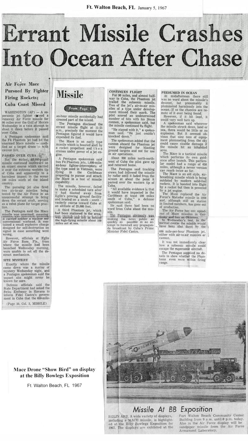 Fort Walton Beach Daily News (courtesy of Sid Segler)