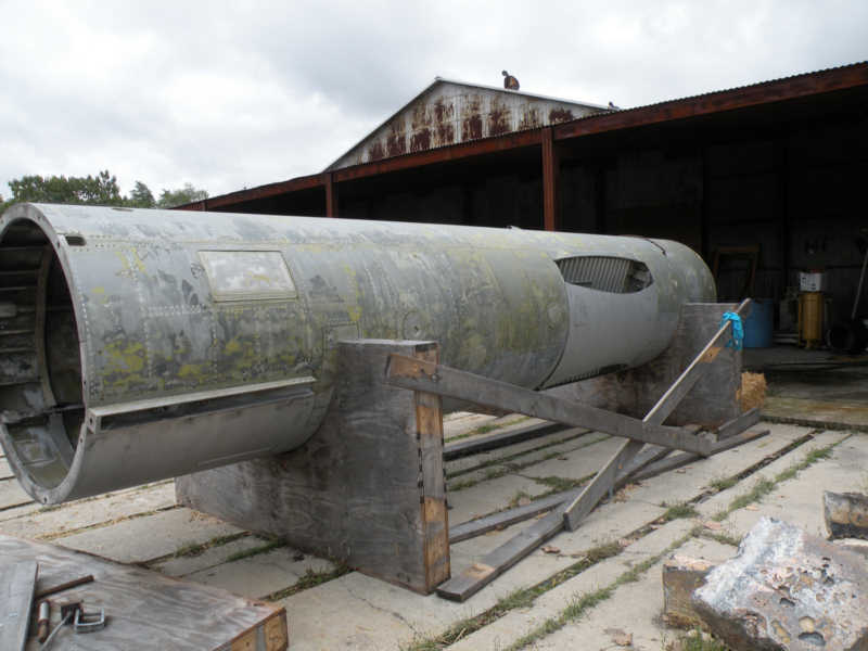 Mace B Restoration at the Indiana Military Museum (photo courtesy of Frank Roales)
