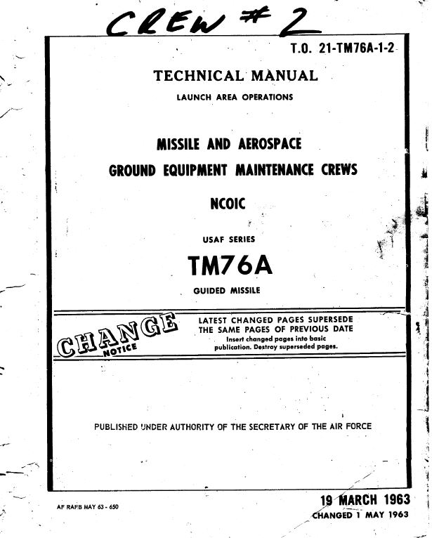TM-76A Launch Area Operations Tech Manual