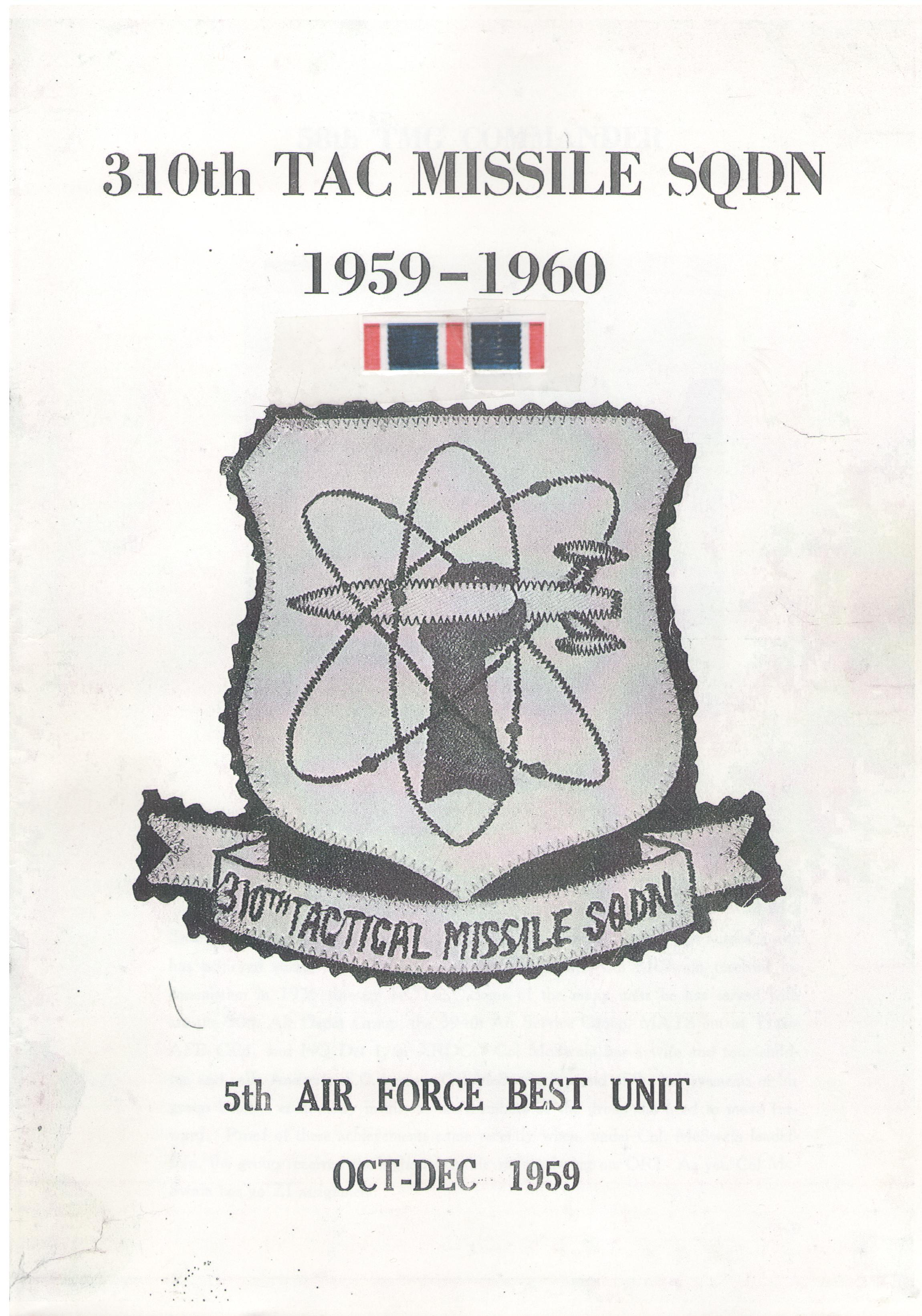 310th TAC Missile Squadron (1959/60)