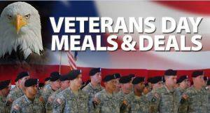 Veteran's Day Meals and Deals