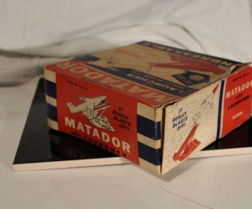 Vintage Eldon Matador Missile with Launcher